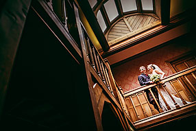 Bride and Groom - Hampshire Wedding at Careys Manor (1)