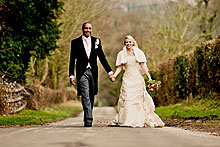 Jessica and Kavian at Tithe Barn