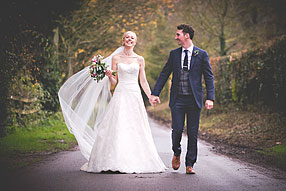 Bride and Groom - Hampshire Wedding at Tithe Barn (1)