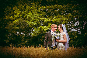 Bride and Groom - Hampshire Wedding at Tithe Barn (10)
