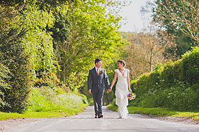 Bride and Groom - Hampshire Wedding at Tithe Barn (12)