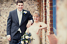 Bride and Groom - Hampshire Wedding at Tithe Barn (23)