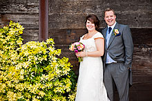 Charlotte and Paul at Tithe Barn