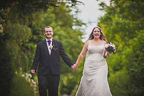 Danni and Cliff at Tithe Barn