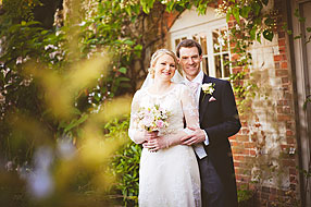 Bride and Groom - Surrey Wedding at Bury Court Barn (33)